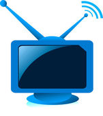 Television — Vettoriale Stock