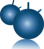Two blue balls — Stock Vector