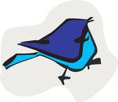 Silhouette of bird — Stock Vector