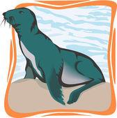 Zeeleeuw — Stockvector