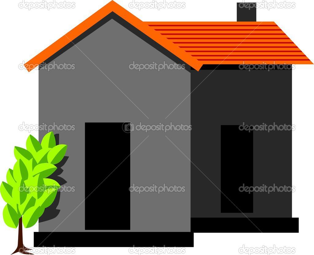 Casa e una pianta verde vettoriali stock maaillu 30584429 for Disegni e prezzi della casa