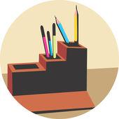 Podstawka na długopis — Wektor stockowy