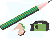 Pencil and cutter — Stock Vector