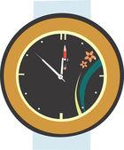 маятниковые часы — Cтоковый вектор