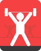 Gewichtheben — Stockvektor
