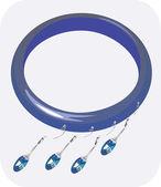 Blue coloured bracelet — Stock Vector
