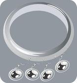 Bracelete de prata — Vetorial Stock