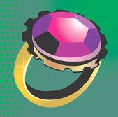 Diamante montado — Vector de stock