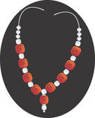 Necklace with gemstone — Stock vektor