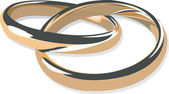 Gouden ringen — Stockvector