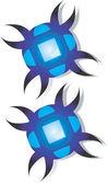 Brinco azul — Vetorial Stock