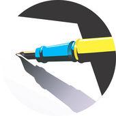 Papper och penna — Stockvektor
