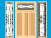 Wooden window — Stock Vector
