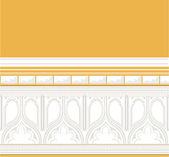 Decorated walls bottom — 图库矢量图片