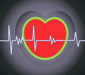 Heart and heart pulses — Stock Vector