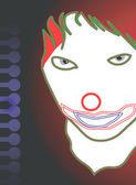 Joker with eyes open — Stock Vector