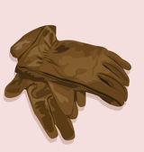 перчатки кожаные — Cтоковый вектор