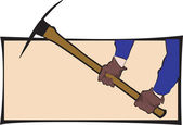 выбрать топор в руках человека носить перчатки — Cтоковый вектор