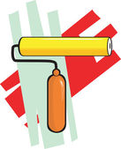 Painting roller — Stock Vector