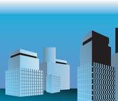 Multi storey building — Stock Vector