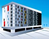 Multi storey building with floor — Stock Vector