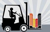 Sollevatore forcella guida con blocco — Vettoriale Stock