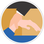 Hand holding hand — Stock Vector