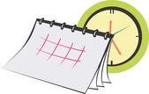 планировщик календарь — Cтоковый вектор
