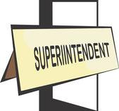 Vorstand der superintendent — Stockvektor