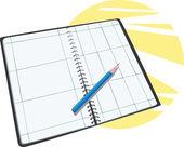 Planner calendar — Stock Vector