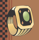Golden ring — Stock Vector