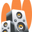 Loudspeakers — Stock Vector