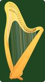 Harp — Stock Vector
