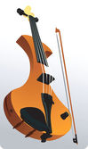 Violin with bow — Stock Vector