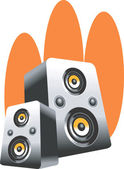 Loudspeakers — Stock Vector