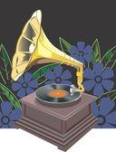 Gramofon — Wektor stockowy