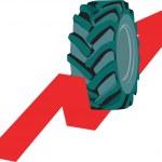 Tyre rolling — Stock Vector #31631101