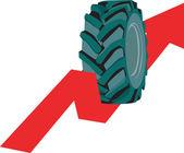 Tyre rolling — Stock Vector