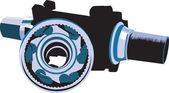 Mechanic machine parts — Stock Vector