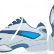 Stock Vector: Sports shoes