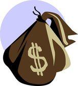 Dollar bag — Stock Vector