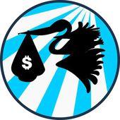 Saco do dólar — Vetor de Stock