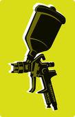 покрасочный пистолет — Cтоковый вектор