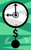 Clock with dollar pendulum — Stock Vector