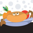 Crab with salad — Stock Vector #32973451