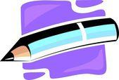顶级色彩缤纷飞机上用铅笔 — 图库矢量图片