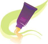 Cosmetic paste — Stockvektor