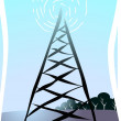Antenna tower — Stock Vector