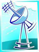 Antena parabólica — Vector de stock
