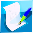 Pen paper — Stock Vector #34740289